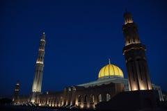 Mezquita magnífica de Qaboos del sultán en moscatel Foto de archivo