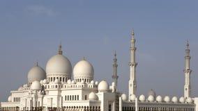 Mezquita magnífica en Abu Dhabi Fotos de archivo