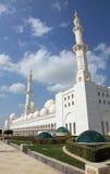 Mezquita magnífica en Abu Dhabi UAE Imagen de archivo libre de regalías