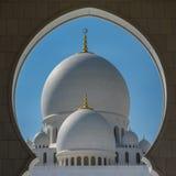Mezquita magnífica Sheikh Al Zayed en Abu Dhabi Foto de archivo libre de regalías