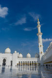 Mezquita magnífica Sheikh Al Zayed en Abu Dhabi Imagenes de archivo