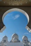 Mezquita magnífica Sheikh Al Zayed en Abu Dhabi Imagen de archivo libre de regalías