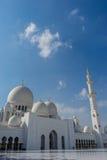 Mezquita magnífica Sheikh Al Zayed en Abu Dhabi Fotos de archivo libres de regalías