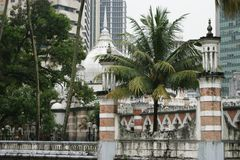 Mezquita Masjid Jamek en Kuala Lumpur, Malasia Foto de archivo