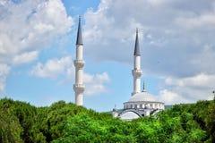 Mezquita musulm?n de la arquitectura de la religi?n del Islam foto de archivo