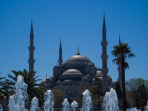 Mezquita muy azul Fotografía de archivo
