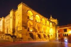 Mezquita at night in Cordoba, Spain Royalty Free Stock Photo