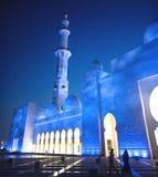 Mezquita o jeque magnífica Zayed Mosque imágenes de archivo libres de regalías