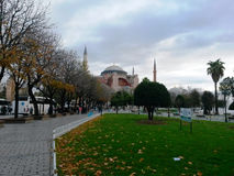 Mezquita o una iglesia, mezquita para los musulmanes, iglesia de Hagia Sophia de Griegos Imagen de archivo libre de regalías