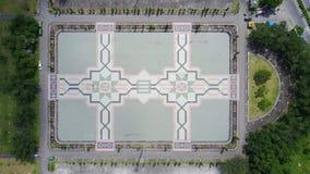Mezquita Pekanbaru de Agung An-nur del campo fotografía de archivo