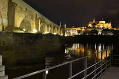 Mezquita, puente y barandilla. Although the area where I photographed this scene is not a viewpoint, it is perfect for countless frames, all different in this royalty free stock photos