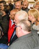 Mezquita que visita de Jeremy Corbyn foto de archivo libre de regalías