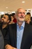 Mezquita que visita de Jeremy Corbyn fotografía de archivo