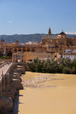 Mezquita and Roman Bridge, Cordoba Stock Photography