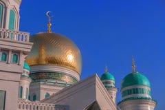 Mezquita Rusia de la catedral de Moscú Lugar santo islámico foto de archivo