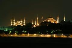 Mezquita sophia-azul de Hagia Imagen de archivo libre de regalías