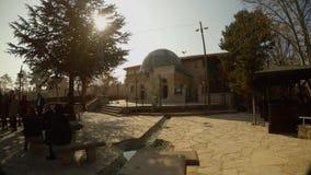 Mezquita vieja en las cercanías de la ciudad turca de Konya almacen de metraje de vídeo