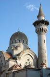 Mezquita y alminar en Constanta. Imagen de archivo