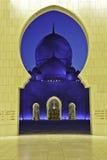 Mezquita zayed jeque UAE Foto de archivo libre de regalías