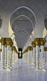 Mezquitas UAE de jeque Zayed Foto de archivo