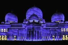 Mezquitas UAE de jeque Zayed Imágenes de archivo libres de regalías