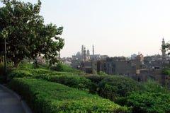 Mezquitas viejas en El Cairo foto de archivo