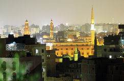 Mezquitas viejas en El Cairo imagen de archivo