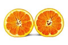 Mezza arancia due Immagine Stock Libera da Diritti