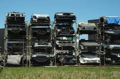 Mezza automobile del taglio Immagini Stock
