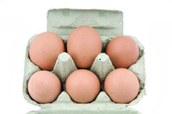 Mezza dozzine uova Fotografia Stock