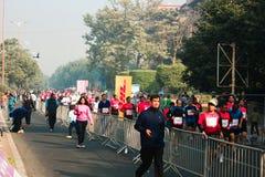 Mezza maratona 2014 di Airtel Immagine Stock Libera da Diritti