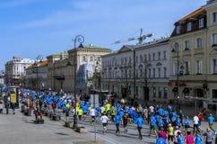 Mezza maratona 2016 di Varsavia Immagini Stock