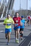 Mezza maratona 2016 di Varsavia Fotografie Stock