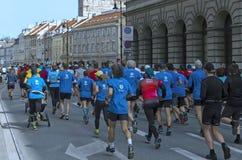 Mezza maratona 2016 di Varsavia Fotografia Stock Libera da Diritti