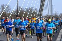 Mezza maratona 2016 di Varsavia Immagine Stock