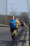 Mezza maratona 2016 di Varsavia Fotografia Stock