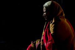 Mezza siluetta della donna di Rajasthani Fotografie Stock Libere da Diritti