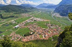Mezzacorona aerial view Royalty Free Stock Images