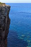 Mezzaluna cliff in San Pietro isle Royalty Free Stock Image