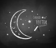 Mezzaluna e stelle Fotografia Stock Libera da Diritti
