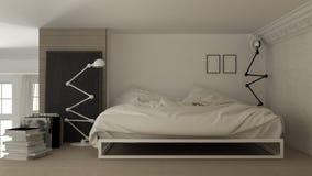 Mezzanine loft bedroom. Interior design Stock Photos