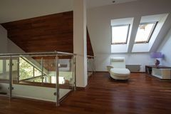 Mezzanine in a modern house Royalty Free Stock Photography