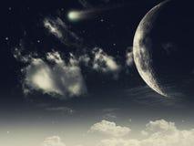 Mezzanotte stellata Fotografie Stock Libere da Diritti