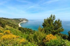 Mezzavalle-Strand adriatisches Meer des Sommers Lizenzfreies Stockfoto