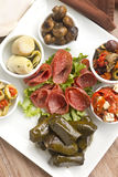 Mezze Antipasto Platter Stock Photo