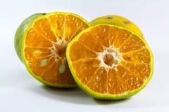 Mezze arance Fotografie Stock