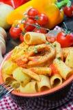 Mezze maniche italian pasta Royalty Free Stock Photography