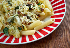 Mezze penne alla formaggella Royalty Free Stock Photography
