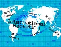 Mezzi dell'internazionale di vendita attraverso The Globe ed il mondo Fotografie Stock Libere da Diritti