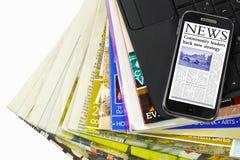 Tipi di informazioni di multimedia fotografia stock